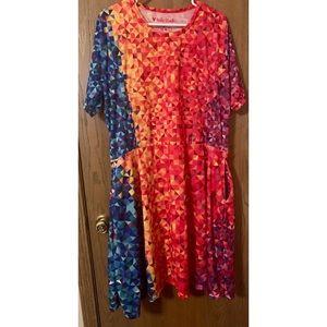 Koda Black colorful geometric pattern dress